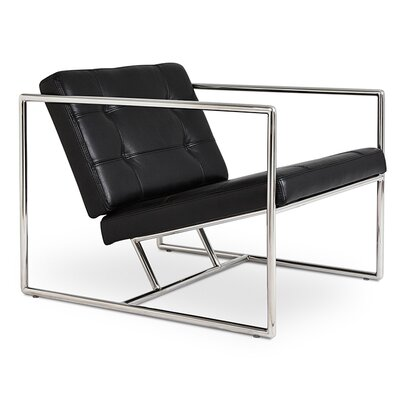 Delano Armchair Upholstery: Black Leather