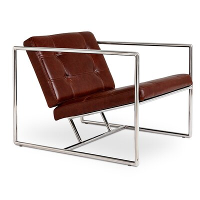 Delano Armchair Upholstery: Brown Leather