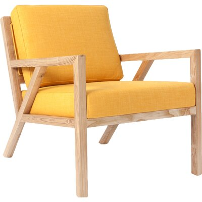 Truss Arm Chair Upholstery: Laurentian Citrine