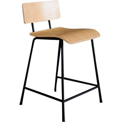 School 24 Bar Stool Upholstery: Natural