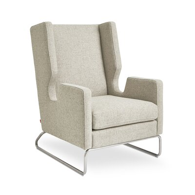 Danforth Wing back Chair Color: Leaside Driftwood