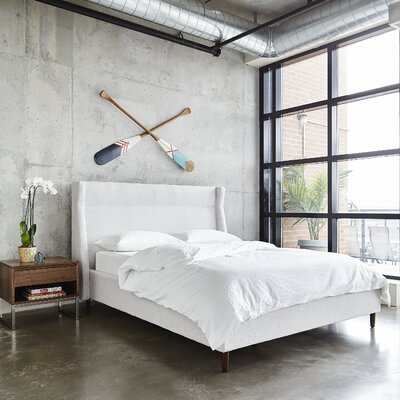 Carmichael Upholstered Platform Bed Size: Queen, Color: Cambie Parchment
