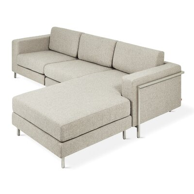 Davenport Reversible Sectional Upholstery: Leaside Driftwood