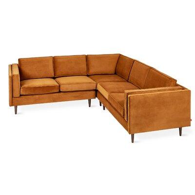Adelaide Sectional Upholstery: Velvet Rust