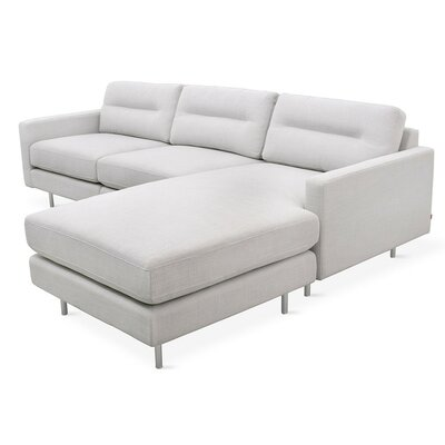 Logan Reversible Sectional Upholstery: Oxford Quartz