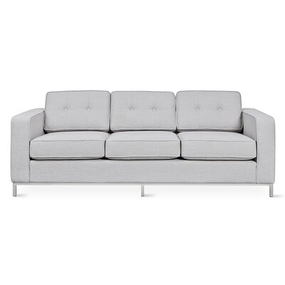 Jane Sofa Upholstery: Totem Pebble, Finish: Stainless Steel