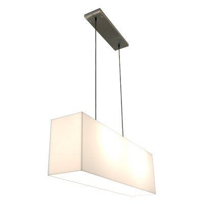 2-Light Kitchen Island Pendant Finish: White Shade