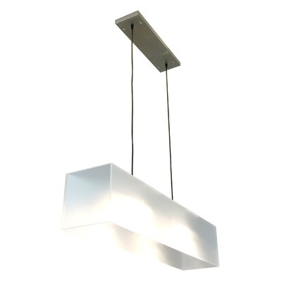 2-Light Kitchen Island Pendant Finish: Frosted Shade