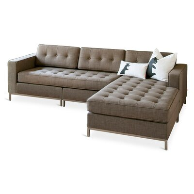 Jane Reversible Sectional Upholstery: Laurentian Tundra, Finish: Stainless Steel