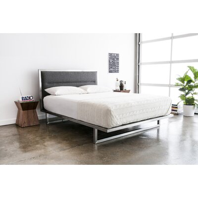 Midway Upholstered Platform Bed Size: King, Upholstery: White