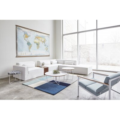 Element Tofino Hand-Tufted Wool Blue Area Rug Rug Size: 4 X 6