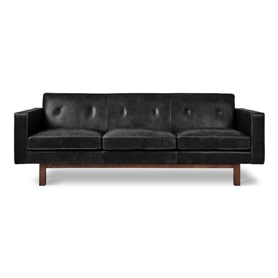 Embassy Sofa Upholstery: Saddle Black