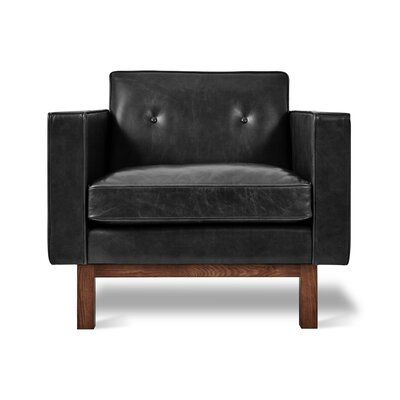 Embassy Club Chair Upholstery: Saddle Black