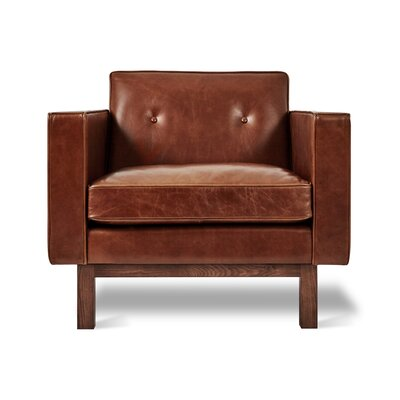 Embassy Club Chair Upholstery: Saddle Brown