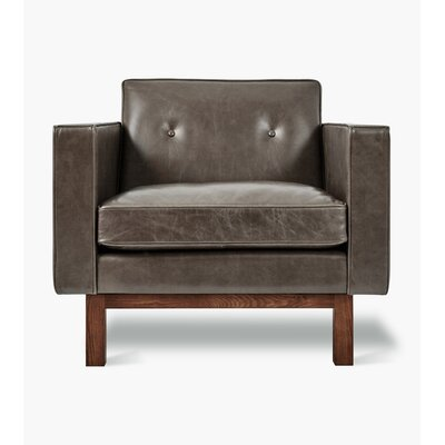 Embassy Club Chair Upholstery: Saddle Gray