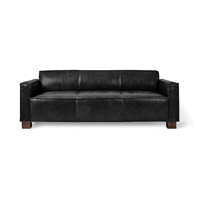 Cabot Sofa Upholstery: Saddle Black