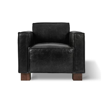 Cabot Club Chair Upholstery: Saddle Black