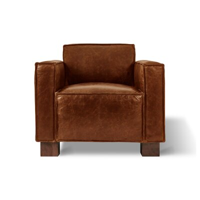 Cabot Club Chair Upholstery: Saddle Brown