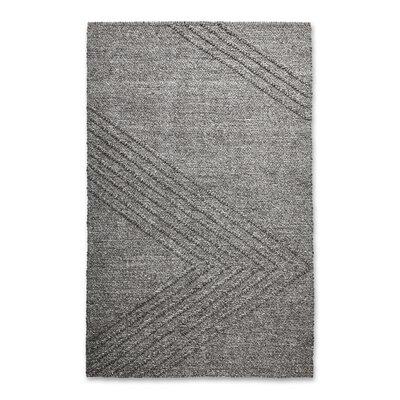 Avro Hand Woven Wool Charcoal Area Rug Rug Size: 5 x 8