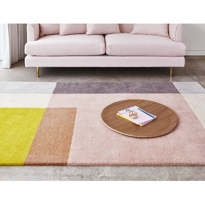 Element Rose Hand-Tufted Wool Blush Area Rug Rug Size: 4 X 6
