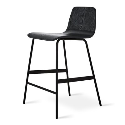 Lecture Counter Bar Stool Finish: Ash Black