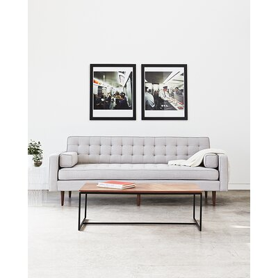 Spencer Sofa Body Fabric: Light Gray, Leg Color: Silver