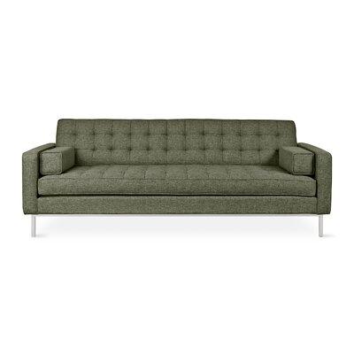 Spencer Sofa Body Fabric: Green, Leg Finish: Stainless