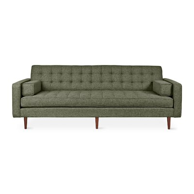 Spencer Sofa Body Fabric: Green, Leg Color: Brown