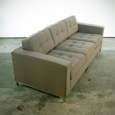 Jane Sofa Upholstery: Sterling Gravel, Leg Finish: Walnut