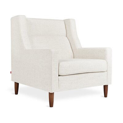 Carmichael Wingback Chair Body Fabric: Huron Ivory