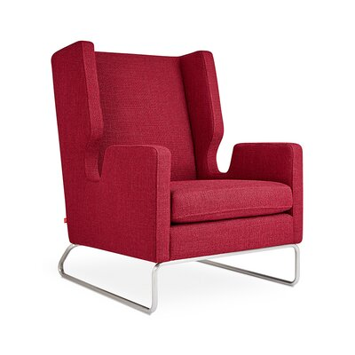 Danforth Wingback Chair Upholstery: Andorra Sumac