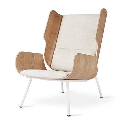 Elk Wingback Chair Upholstery: Huron Ivory Ash Natural