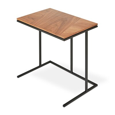 Tobias Network Table Walnut with Black Powder Coat