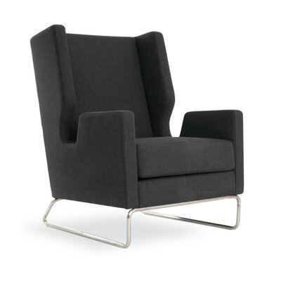 Danforth Wing back Chair Color: Urban Tweed Ink