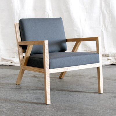 Truss Armchair Upholstery: Menswear Griffin