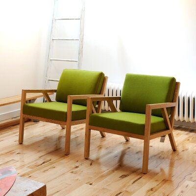 Truss Armchair Upholstery: Billiards Vert
