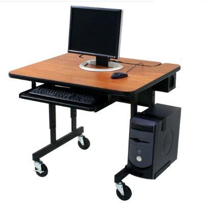 "Paragon Furniture Classic Flip Top Workstation Computer Table - Size: 72"" W, Laminate Top: White Nebula"