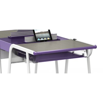 A&D 13 W x 12 D Desk Bookbox Bookbox Finish: Purple
