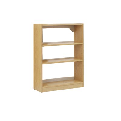 Single Face Bookcase Size: 60 W, Melamine / Metal Finish: Maple / Wheat, Shelf Type: Wood Shelves Product Photo 1546