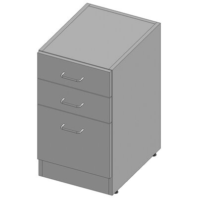 27.75 H x 15.5 W Desk File Pedestal Melamine Finish: Xanadu