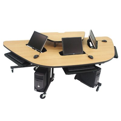 Mobile Multi-User Work Station 94 W x 45 D Training Table Product Photo 5575