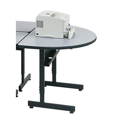 Paragon Furniture Half Moon Printer Stand - Finish Top Finish: Tungsten Etched, Metal Finish: Black