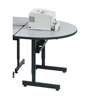 Paragon Furniture Half Moon Printer Stand - Finish Top Finish: Gray, Metal Finish: Black