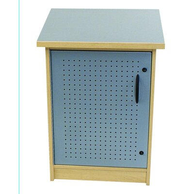 "Paragon Furniture 65"" 1 Box Technology Storage Unit - Frame Finish: Studio Teak, Top Finish: Sky"