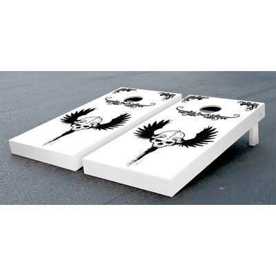 Victory Tailgate Skull Wing Cornhole Bean Bag Toss Game