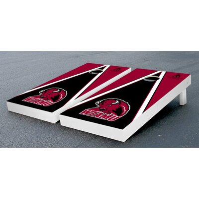 NCAA Triangle Wooden Version 2 Cornhole Game Set NCAA Team: West Texas A&M University Buffs VT17762