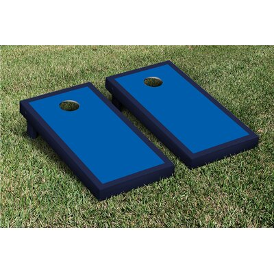 Victory Tailgate Border Matching Version 2 Cornhole Boards Game Set - Color: Royal Blue / Navy Blue at Sears.com