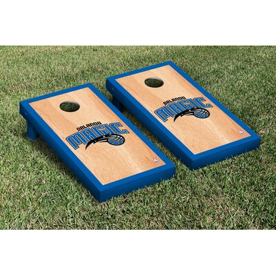 NBA Hardcourt Version Cornhole Game Set NBA Team: Orlando Magic
