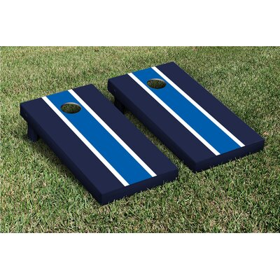 Victory Tailgate Striped Matching Version 2 Cornhole Boards Game Set - Color: Royal Blue / Navy Blue at Sears.com