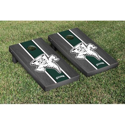 NCAA Lake Erie LEC Storm Stained Version Cornhole Game Set Color: Onyx